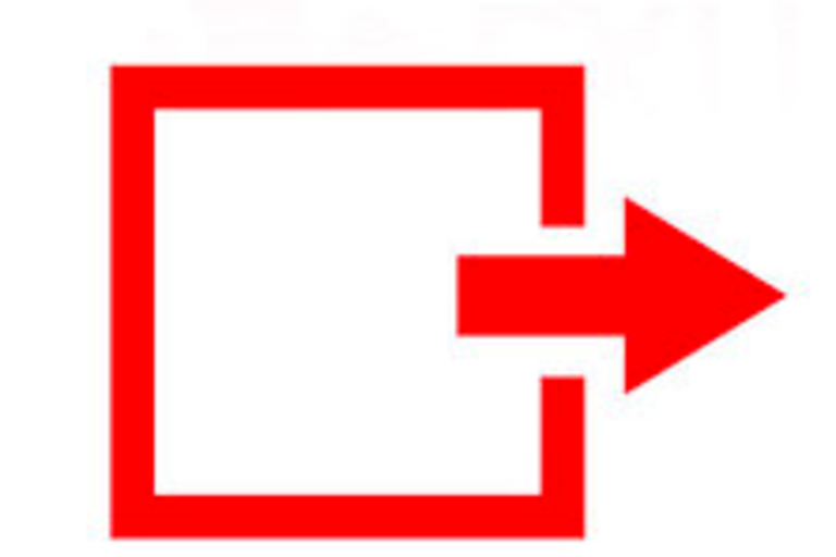 Image of an emergency exit door
